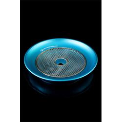 Aluminiumteller mit Kohlegitter - Blau