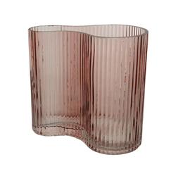 Vase DOUBLE rosa(H 18 cm)
