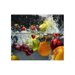 Wall-Art Herd-Abdeckplatte Küche Herdabdeckplatte Obst, Glas, (Set, 2 tlg)