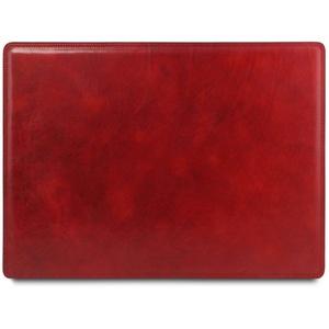 Tuscany Leather Schreibtischunterlage aus Leder Rot