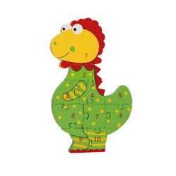 Nici Konturenpuzzle Zahlenpuzzle Dinosaurier, 10 Puzzleteile