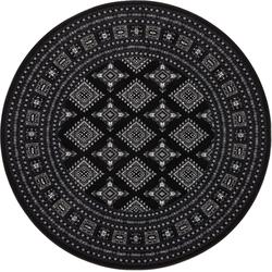 Teppich Sao Buchara, NOURISTAN, rund, Höhe 9 mm, Kurzflor, Orient-Optik schwarz