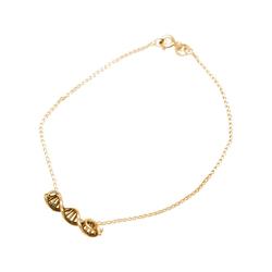 Gemshine Charm-Armband DNA Doppelt Helix Molekül, Made in Spain goldfarben