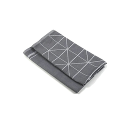 Aymando Geschirrtuch Gray, (Spar Set, 2-tlg., 50x70cm), Poliertuch Trockentuch 2 Stück 50x70cm reine Bio Baumwolle im Muster Fancy Gray grau
