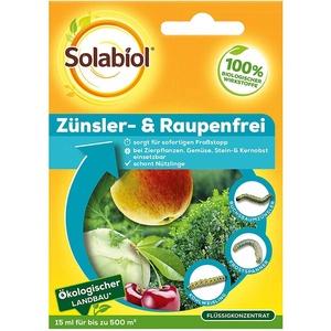 Solabiol Zünsler- und Raupenfrei, biologisches Mittel gegen Raupen, auch gegen den Buchsbaumzünsler, Sparpack 2 x 15 ml Plus Zeckenzange mit Lupe