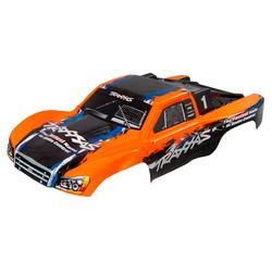 Traxxas TRX5850 Karosserie Slash 4x4, orange mit Aufkleber