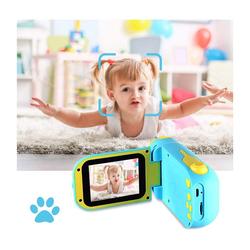 kueatily Kids Digitalkamera Spielzeug, Kleinkind Kamera Spielzeug, Stoßfeste Kamera mit 32 GB TF Karte, Geschenk Spielzeug für 3 bis 12 Jahre alte Jungen und Mädchen Kinderkamera blau