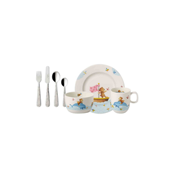 Villeroy & Boch Kindergeschirr-Set HAPPY AS A BEAR Kindergeschirrset 7-tlg (7-tlg), Porzellan