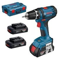 Bosch GSR 18-2-LI Professional inkl. 3 x 1,5 Ah + L-Boxx (0615990FD7)