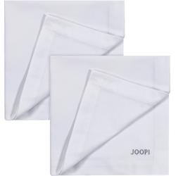 Joop Stoffserviette STITCH, (Set, 2 St.), In Vollzwirn-Qualität mit JOOP Logo- und Kornblumen-Stickerei silberfarben Stoffservietten Tischwäsche