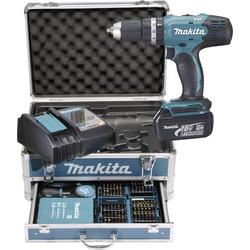 Makita Akku-Schlagbohrschrauber DHP453RFX2 18V 3.0Ah Li-Ion inkl. 2. Akku, inkl. Koffer, inkl. Zubeh