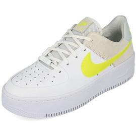 Nike Women's Air Force 1 Sage Low white/pure platinum/fossil/lemon venom 40