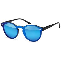styleBREAKER Sonnenbrille Monoglas Sonnenbrille Verspiegelt schwarz