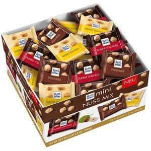 Ritter-Sport Minischokolade Mini Nuss Mix, Vorratsbox, sortiert, 66 Stück