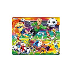 Larsen Puzzle Rahmen-Puzzle, 65 Teile, 36x28 cm, Fußball, Puzzleteile