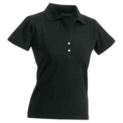 Elastic Poloshirt   James & Nicholson schwarz S