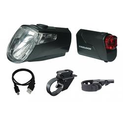 Trelock Fahrradbeleuchtung LED-Akku-Leuchten Set Trelock I-go Eco LS 360/ 720