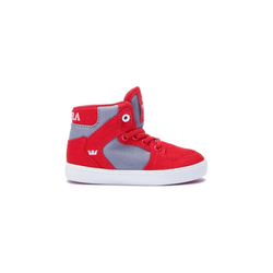 Schuhe SUPRA - Toddler Vaider Red/Dk. Grey-White (614)