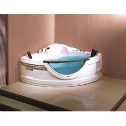Sanotechnik Whirlpool-Badewanne Acryl, (5-tlg), 150/150/68 cm, Eckbadewanne mit Fenster, Acryl