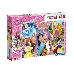 Clementoni® Puzzle Bodenpuzzle 40 Teile - Disney Princess, Puzzleteile
