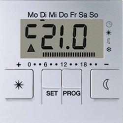 Jung Uhren-Therm.-Display alu für Uhren-Th.Einsatz A UT 238 D AL
