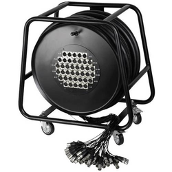 AH Cables K40C50D Multicore Kabeltrommel 50.00m Anzahl Eingänge:32 x Anzahl Ausgänge:8 x