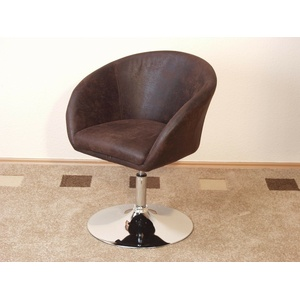 Drehsessel Loungesessel Sessel Clubsessel Cocktailsessel braun