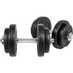 GORILLA SPORTS Kurzhantel Kurzhantelset Kunststoff 20 kg, 20 kg, (Spar-Set, 14-tlg., mit Kurzhantelstangen)