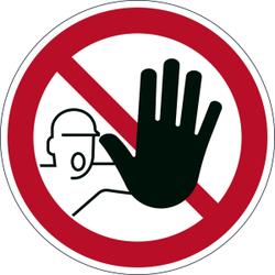 DURABLE Zutritt verboten Sicherheitskennzeichen, Sicherheitskennzeichen zur Kennzeichnung von Gefahrenbereichen, 1 Stück