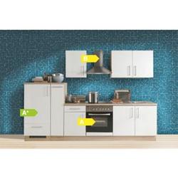 Menke Küchen Küchenzeile Premium 300 cm Lacklaminat Weiß Matt