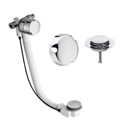 HAK Ablaufgarnitur Badewannenablaufgarnitur 700mm, mit Einlauf