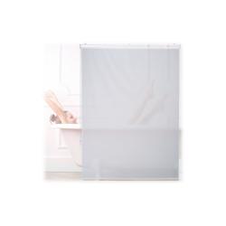 relaxdays Duschrollo Duschrollo weiß Breite 120 cm 120 cm x 240 cm