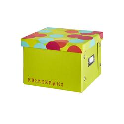 Basispreis* Pappbox  Krimskrams ¦ grün ¦ Pappe, Metall ¦ Maße (cm): B: 20,5 H: 15,5 T: 21,5