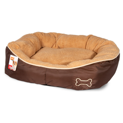 Karlie Hundekorb Chipz rund beige, Maße: 63 x 60 x 20 cm