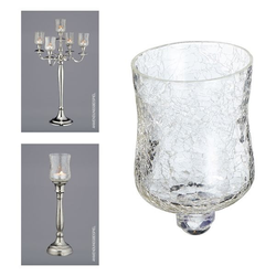 Glasaufsatz für Kerzenleuchter(DH 7x10 cm)