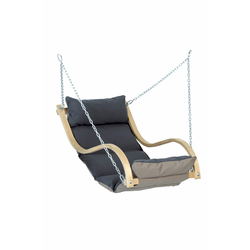 Wooden Garden Swing Chair with Grey Cushion - Chair Only - Amazonas