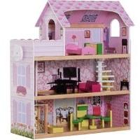 Homcom Puppenhaus mit Möbeln (105884977)