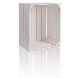 CHICCIE Holzkiste Regale Weiß 50x40x30cm - Kisten Weinkisten (2 Stück)