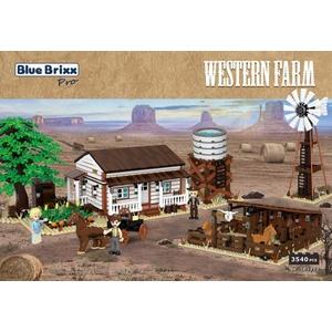 BlueBrixx Pro – Western Farm aus Klemmbausteinen mit 3540 Bauelementen. Kompatibel mit Lego. Lieferung in Originalverpackung.