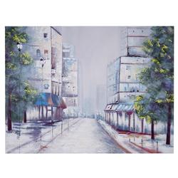 Ölgemälde Ortschaft, 100% handgemaltes Wandbild Gemälde XL, 120x90cm