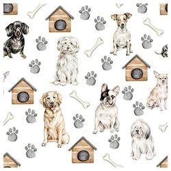 Linoows Papierserviette 20 Servietten, Haustiere, der Hund unser treuer, Motiv Haustiere, der Hund
