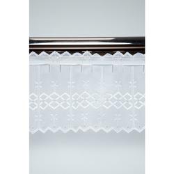 Pannaux Stoff Vorhang Scheibengardine Lochgardine weiß Rauten H20 cm Rapport 8cm