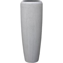 GILDE Dekovase Bigio, betongrau (1 Stück), Bodenvase, Beton-Optik, handgefertigt, In- und Outdoor geeignet 34 cm x 75 cm