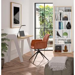 TemaHome Schreibtisch Fiore, mit einer praktischen Kabeldurchführung, Breite 91 cm