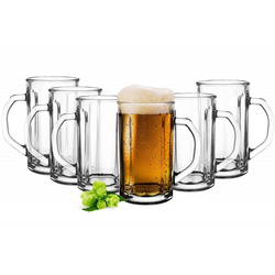 Sendez Bierglas 6 Bierseidel 500ml Biergläser Bierkrüge Bierglas Pilsgläser Bierglas Gläser, Glas