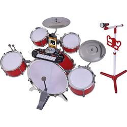 SIMBA Spielzeug-Musikinstrument Plug & Play Drumset Schlagzeug