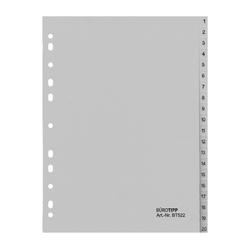 Ordnerregister A4, 1-20, 20-teilig, volle Höhe