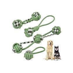 KaraLuna Tier-Beschäftigungsspielzeug Seilspielzeug 4-teilig, Maschinenwaschbar bis 30 Grad im Schonwaschgang