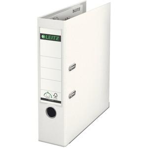 Leitz 1010 Aktenordner 180°-Mechanismus A4 80 mm Rücken Plastikeinschub mit Etikette weiß