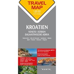 Reisekarte Kroatien 1:300.000